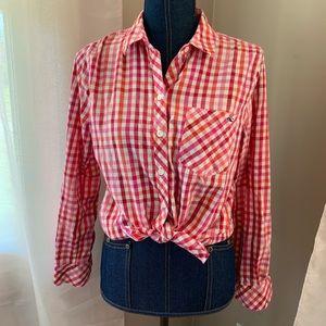Gingham Flannel Button Down